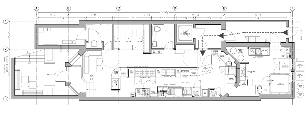 Restaurant Kitchen Area Floor Plan restaurant | xchange architects