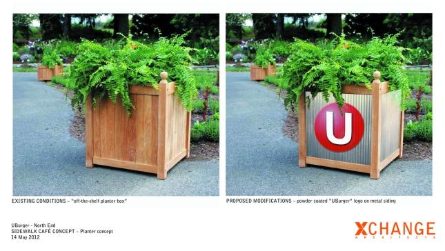 UBurger - planter concept